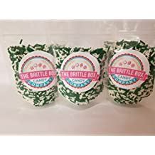Ice Cream Toppings Jimmie Sprinkles Saint Patricks Day WHITE AND GREEN mix 8 oz Bag BIG bag