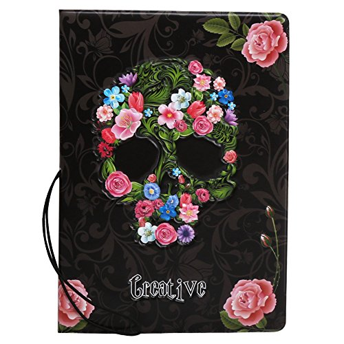 Coolrunner 3D Skull Series Travel Passport Covers Stereo Design Faux Leather ID Card Holders Stamp Envelope Passport Cases(Passport cover)