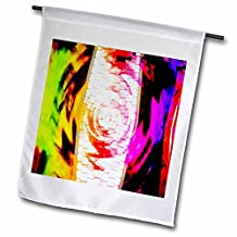 Jos Fauxtographee Abstract - Computor Keyboard Twirled and colored in Neon Green, Pink, Red, Yellow and Purple - 18 x 27 inch Garden Flag (fl_39196_2)