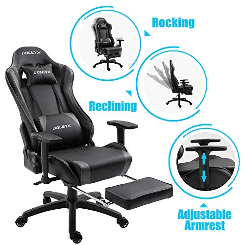 Dowinx Gaming Chair Ergonomic Office Recliner For Computer