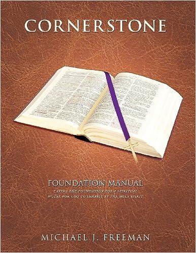 Book Cornerstone Foundation Manual by Michael J. Freeman (2013-03-29)