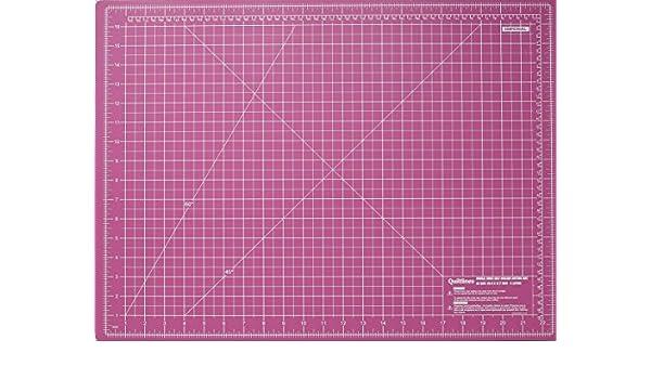 . con 5/capas 45/x 60 cm Tama/ño A2,/24/x 18/pulgadas Quiltlines de doble cara Alfombrilla de corte en sistema imperial y m/étrico