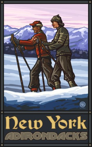 Northwest Art Mall New York Adirondacks Cross Country Skiers Wall Art by Paul A Lanquist, 11 by - New In York Best Mall