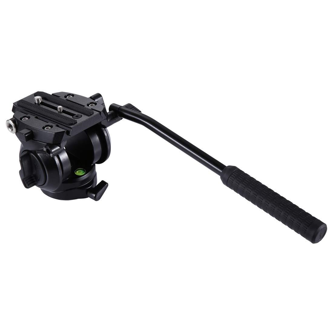 カメラ用 カメラアクセサリーヘビーデューティビデオカメラ三脚動作流体スライディングプレート付きドラッグヘッド対応DSLR/SLRカメラ カメラアクセサリー   B07QGCTLQX