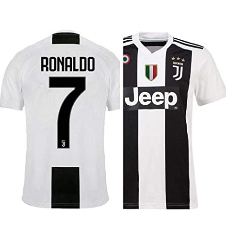 2d8b1071b20 Buy aaDDa Juventus Home Ronaldo Printed Set with Shorts 2018-2019 Online at  Low Prices in India - Amazon.in