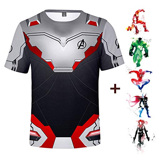 Avengers Endgame Tshirt 3D Printed Sweatshirt Superhero Cosplay Costume Unisex ()