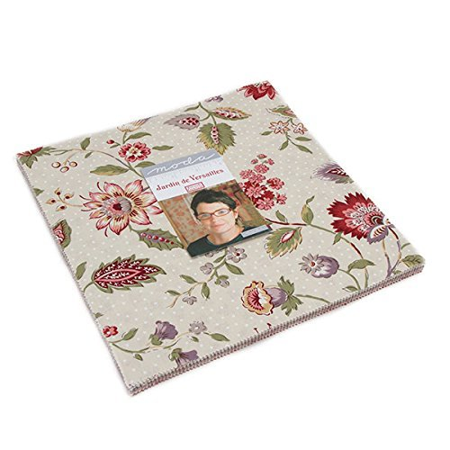 Collection Antique Rose Floral (Moda French General Jardin de Versailles Layer Cake 42 Ten Inch Squares)
