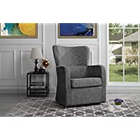Modern Swivel Armchair, Rotating Accent Chair for Living Room (Ash)