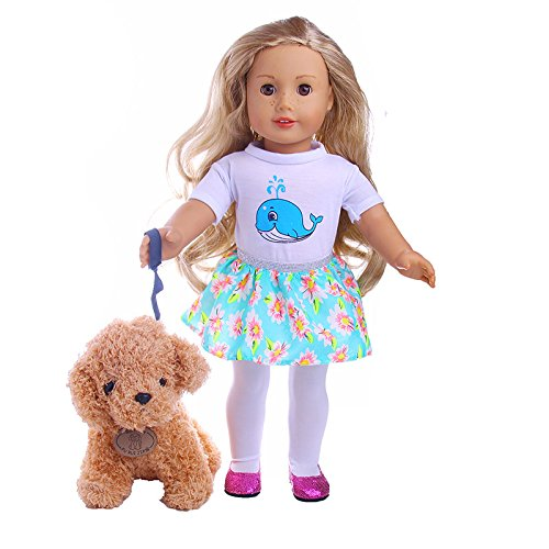 ZWSISU 18Inch Outfits clothes +pet dog for American Girl Dol