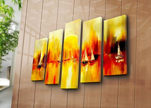 LaModaHome Decorative Canvas Wall Art 5 Pcs (41