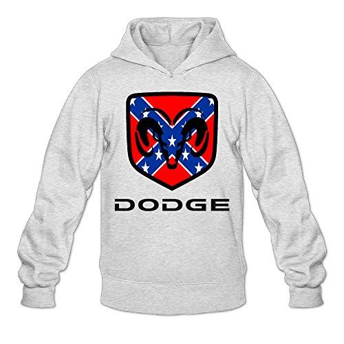 Fennessy Men's Hoodies Dodge Ram Logo Size S Ash ()