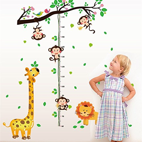 wall decals giraffe chart - 8