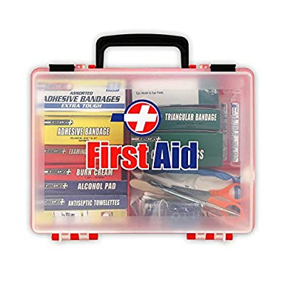 Rapid Care First Aid 81131 Premium 25 Person OSHA/ANSI 2009 Compliant Unitized First Aid Kit in Detachable Wall Mountable Poly Case from Rapid Care First Aid