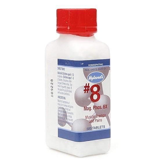 Hylands - célula sales #8 Magnesia fosfórica 6 X - 500 tabletas
