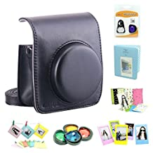 Fujifilm Instax Mini 90 Instant Camera Accessory Bundles Set( Included: Black Fujifilm instax mini 90 case bag/ Diamond Style Instax Mini Book Album/ Mini 90 Self-Portrait Mirror Set/ Colorful Close-Up Lens For Mini 90/ Colorful Photo Frame/ Colorful Decor Sticker Borders)