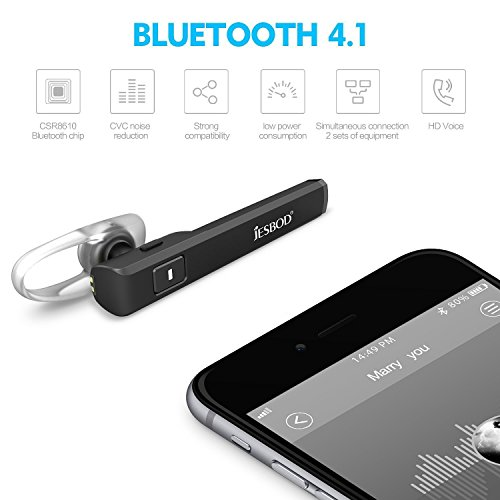 bluetooth headset 4 1 wireless bluetooth earpiece with charging case and mic 12 hours playing. Black Bedroom Furniture Sets. Home Design Ideas