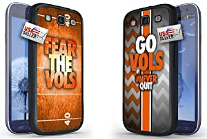 "Fear The Vols and ""Go Vols"" Sports Chevron Black Plastic Cover Case COMBO PACK for Samsung S3"