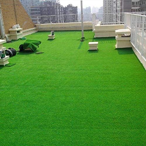 人工芝屋外緑 15ミリメートル高密度偽フェイクグラス芝生、自然でリアルなガーデンガーデンペット犬の芝生(2mx5m)人工人工芝芝生の芝生 高密度偽の芝生犬