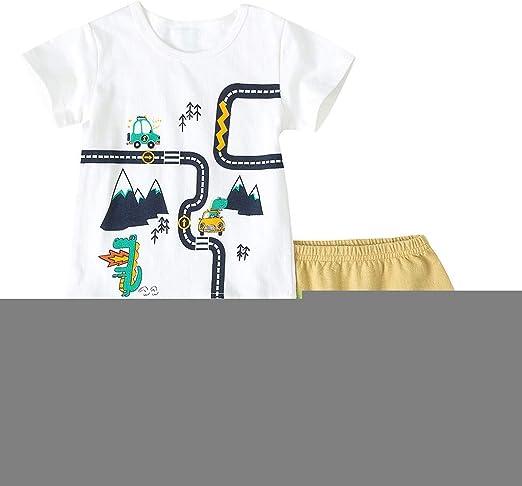 Yesmile - Conjunto de Camiseta y Pantalones Cortos de Manga Corta ...