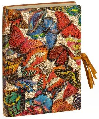 Italian Leather Bound Journal Mosaic Butterflies Lined Journal