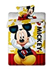 Jerry Fabrics JF0131Mickey 2015, 1x Quilt Cover & Pillow Case Bed Linen Set, 140X 200/70x 90cm by Jerry Fabrics