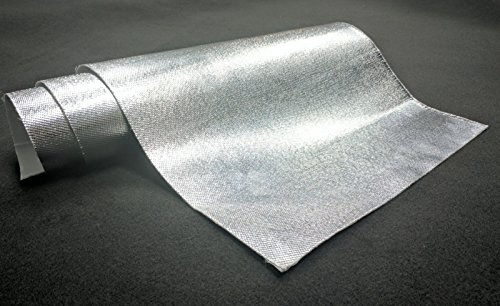 Aluminum Thermal Heat Shield Protection with Fiberglass and Self-Adhesive Backing Heat Barrier- 8 Sq Ft (24x48 Inch) ()