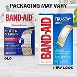 Band-Aid Brand Tru-Stay Sheer Strips Adhesive