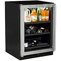 Marvel ML24BCG1LS Beverage Center with Door Left Side Hinge, 24, Stainless Steel