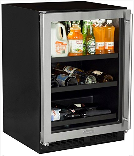 Marvel ML24BCG1LS Beverage Center with Door Left Side Hinge, 24'', Stainless Steel by Marvel