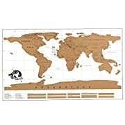 #LightningDeal 82% claimed: Wall Decor World Map Art Canvas Home of the Mural Interior Gallery Wall Map Artwork Poster