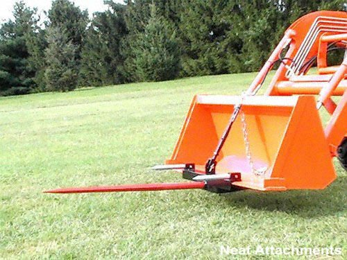 Loader Bucket Hay Bale Spear Attachment 1x39 Prong - KHL