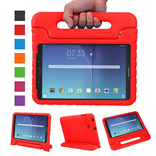 NEWSTYLE Tab E 8.0 Kids Case - Shockproof Light Weight Protection Handle Stand Kids Case for Samsung Galaxy Tab E 8.0 Inch 2015 Tablet (Not Fit Other Tablet) (Red) (Case Tab Samsung 2 Verizon)
