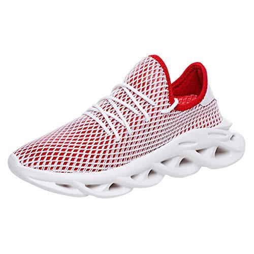 (JJLIKER Men's Sport Running Tennis Shoes Lightweight Breathable Walking Fitness Jogging Cross Training Gym Sneakers)
