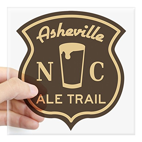CafePress Asheville Ale Trail Logo Square Sticker 3 X 3 Square Bumper Sticker Car Decal, 3