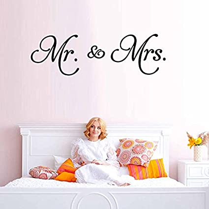Amazon Com Trfhjh Quotes Wall Sticker Home Art Mr Mrs Vinyl