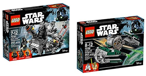 LEGO Star Wars Darth Vader Transformation AND Yoda Jedi Starfighter BUNDLE