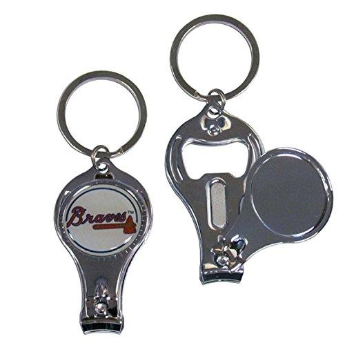 Siskiyou MLB Atlanta Braves Nail Care/Bottle Opener Key Chain