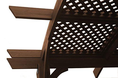 - Outdoor Mocha Sonoma 12' X 12' Wood Pergola Kit Roof Option: Lattice Roof (+$411.35), Wall Option: Open Walls