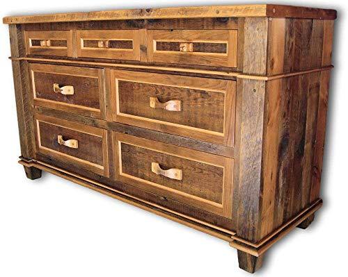 (Antique Barnwood 7 Drawer Dresser)