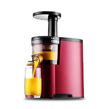 XWH Exprimidor doméstico, separación automática y múltiple de escoria de Frutas y Vegetales. Fruta Fresca, pequeña máquina de zumos de Baja Velocidad,Rojo ...