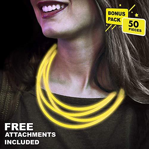 Yellow Glow Sticks - Lumistick 22 Inch Glow Stick Necklaces