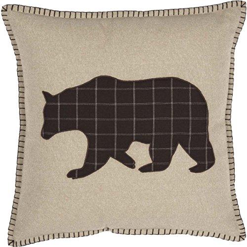 VHC Brands Rustic & Lodge Pillows & Throws - Wyatt Tan Applique Bear 18