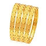 Sukkhi Wedding Jewellery Bangle for Women (Golden) (32083BGLDPP400_2.6)