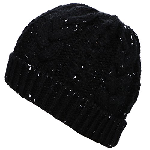 Unisex Winter Soft Stretch Handcraft Knit Slouchy Beanie Cap, Deep (Reversible Womens Beanie)