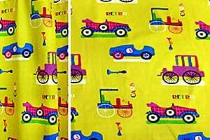 Cortina para dormitorio infantil niños cortina retrocars doble Pack 200cm