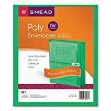 Smead 89523 Poly String & Button Booklet Envelope 9 3/4 x 11 5/8 x 1 1/4 Green 5/Pack