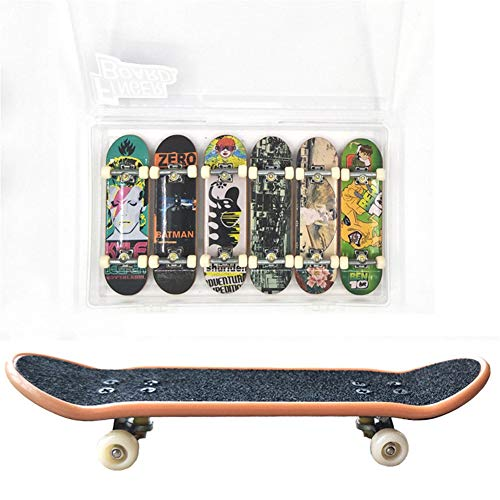 Remeehi 6PCS Matte Metal Professional Mini Fingerboards Finger Skateboard in - Skateboard Metal