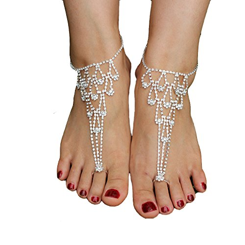 JEWSUN Rhinestone Jewelry Barefoot Bridemaids product image