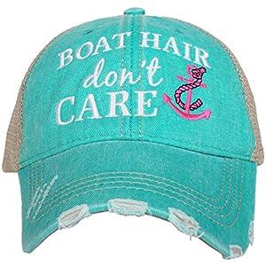 KATYDID Boat Hair Don't Care Baseball Cap – Trucker Hat for Women – Stylish Cute Sun Hat