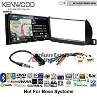 Volunteer Audio Kenwood Excelon DNX994S Double Din Radio Install Kit with GPS Navigation Apple CarPlay Android Auto Fits 2002-2004 Nissan Altima (Without Bose)